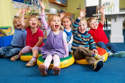 group of children in kindergarten